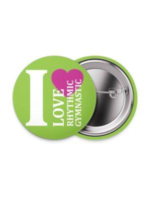 Значок «I Love RG» 38 мм. зеленый