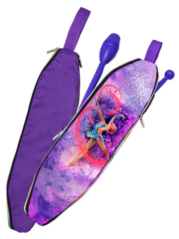 Чехол для булав VERBA 051 фиолетовый/лента