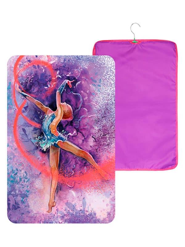 Чехол для платья VERBA 051 фиолетовый/лента