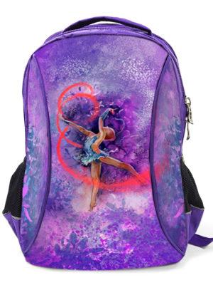 Рюкзак VERBA L 051 фиолетовый/лента 42*30*17