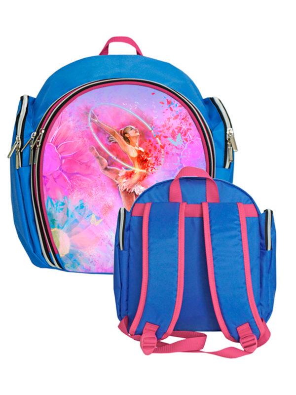 Рюкзак VERBA S 053 голубой/обруч 33*28*15