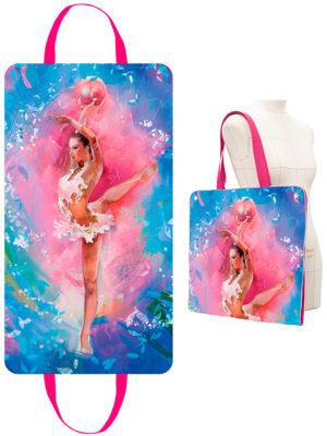 Портплед для платья VERBA 054 розовый/мяч