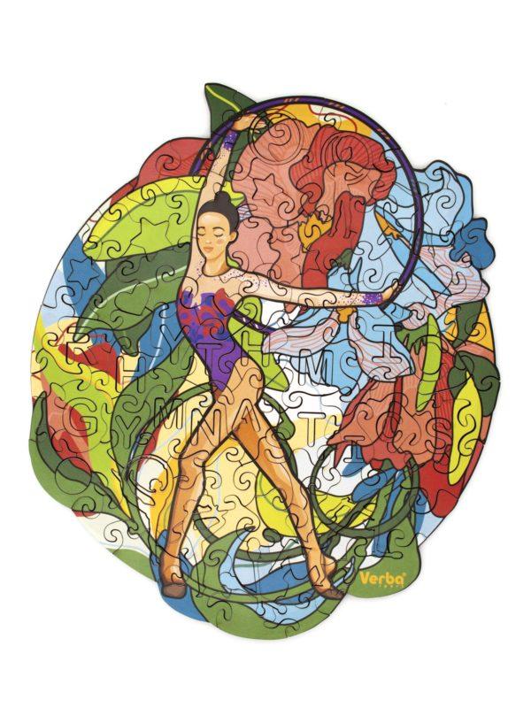 Фигурные пазлы из дерева «Очарование» художественная гимнастика